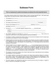 Free Sublet Lease Agreement Template by 40 Professional Sublease Agreement Templates Forms