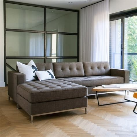 tufted sofa with chaise grey fabric tufted sectional sofa with chaise