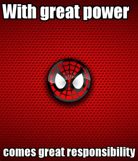 With Great Power with great power comes great responsibility www imgkid