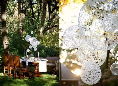 Make a String Ball Chandelier » Curbly   DIY Design & Decor