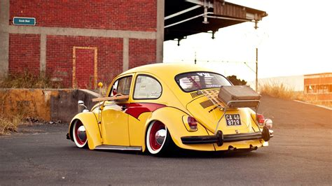 old volkswagen yellow volkswagen bug beetle classic car yellow wallpaper