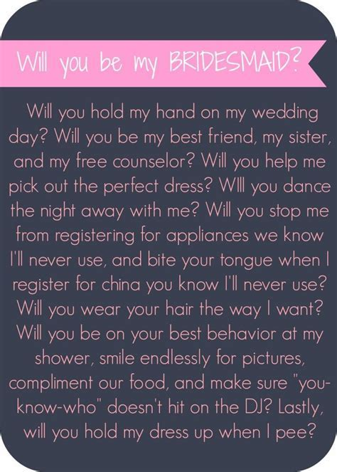 1000  ideas about Bridesmaid Letter on Pinterest