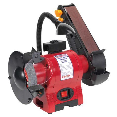 bench grinder with light sealey bench grinder 150mm with 50mm belt sander work