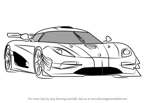 koenigsegg one drawing learn how to draw koenigsegg one sports cars step by