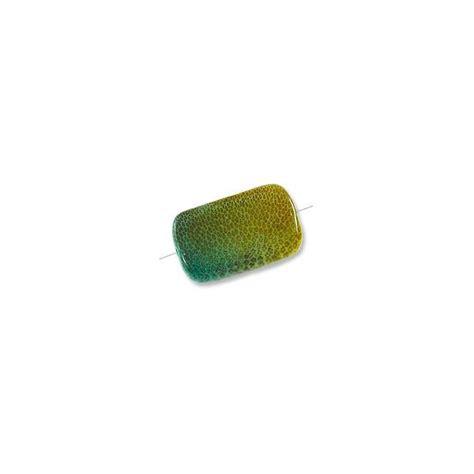 Alga Maxy bead laminated bamboo rectangle 15x25mm algae sea