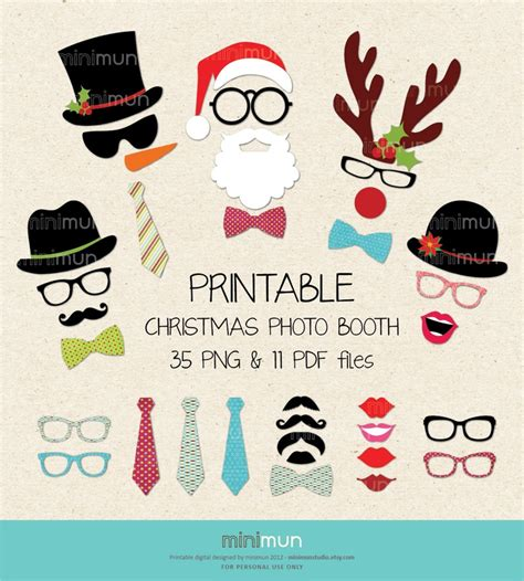 photo booth props diy and free printable christmas christmas photo booth christmas party printables 35