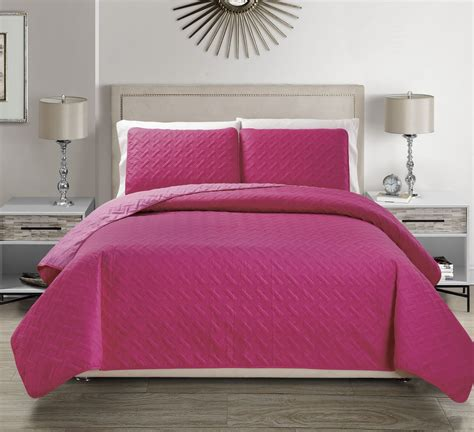 pink coverlet queen embossed pink reversible bedspread quilt set