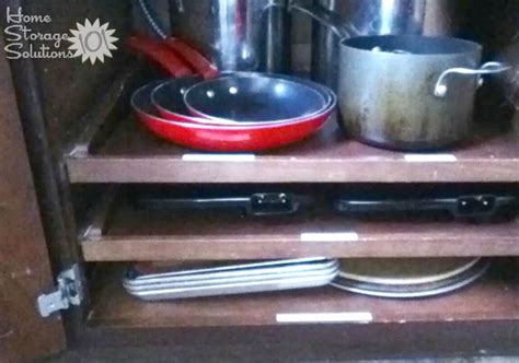 Kitchen Shelves For Pots And Pans Organizing Pots And Pans Ideas Solutions