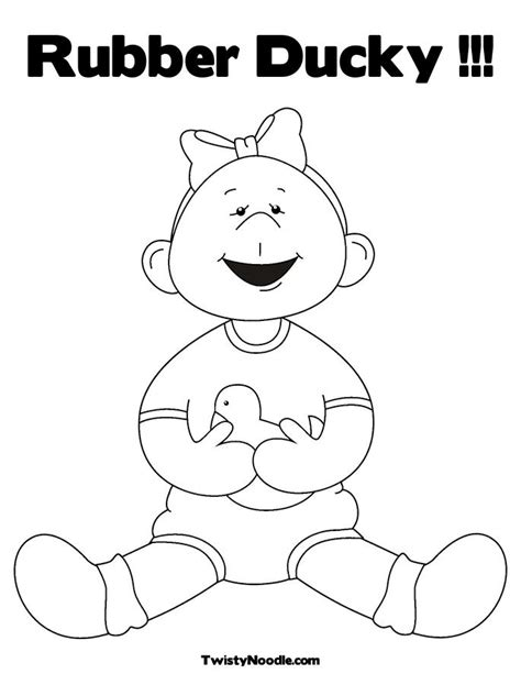coloring page of a rubber duck rubber duck coloring page