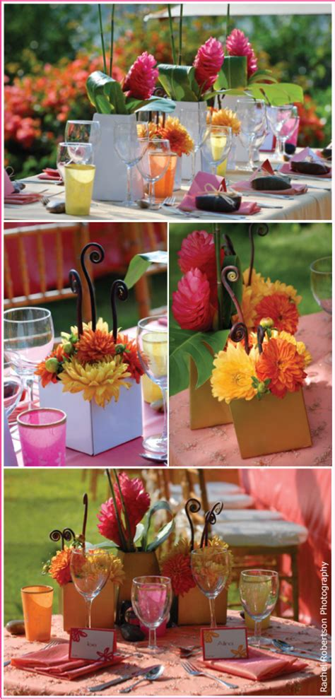 tropical themed your wedding support get the look hawaiian themed wedding