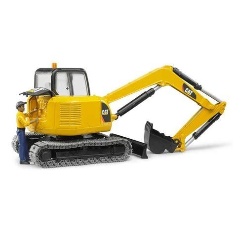 bruder excavator bruder cat mini excavator with worker toys