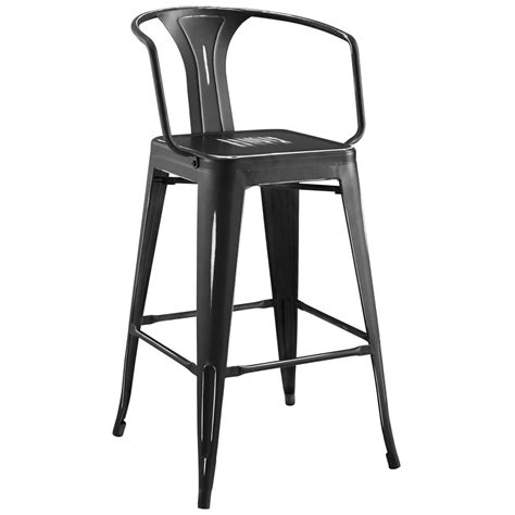 bistro style bar stools modway promenade cafe and bistro style bar stool powder
