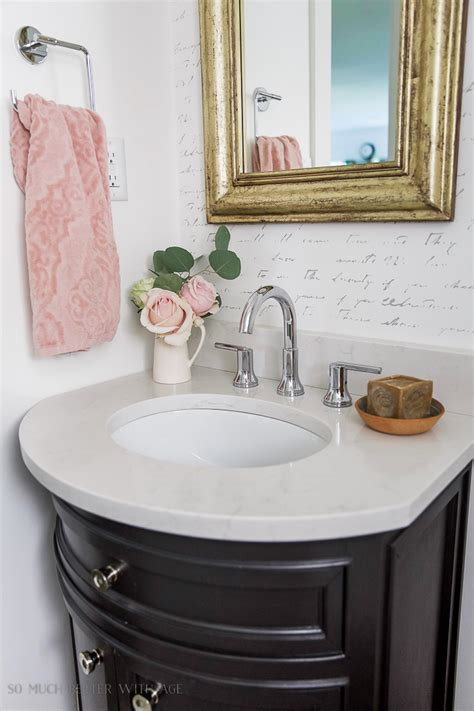 bathroom in french black white french powder room makeover so much