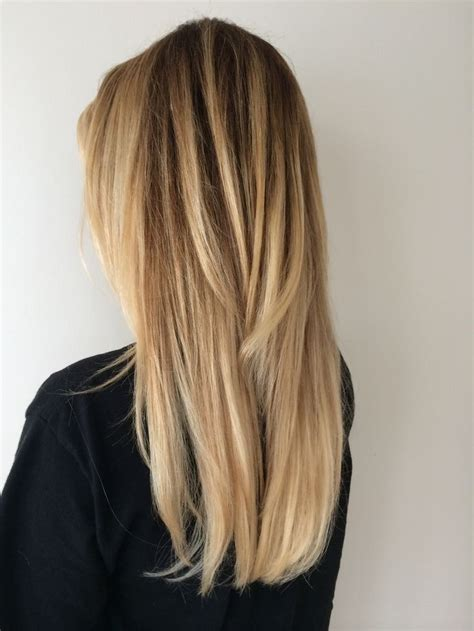 twisted sombre hair long blonde hair with layers balayage hair color
