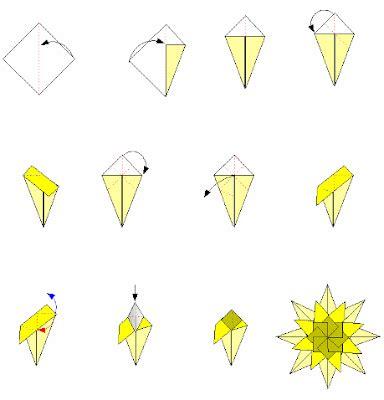 Origami Instructions 3d Star | origami 3d star instructions master origami instructions