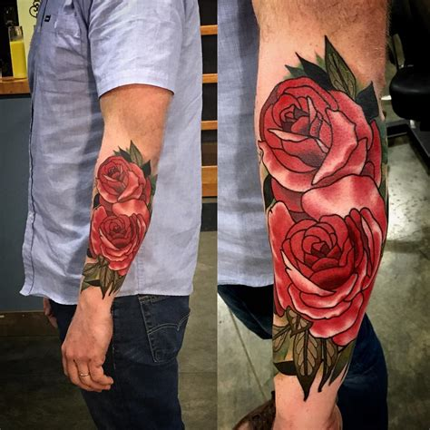 rose tattoo on men roses tattoos for www imgkid the image kid