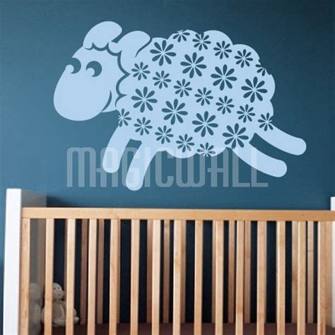sheep wall stickers wall decals smile sheep wall stickers