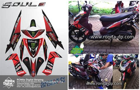 Striping Sticker Lis Variasi Motor Yamaha Mio Gt Moto Gp 5 striping motor custom digital printing vs cutting sticker striping ronita digital printing