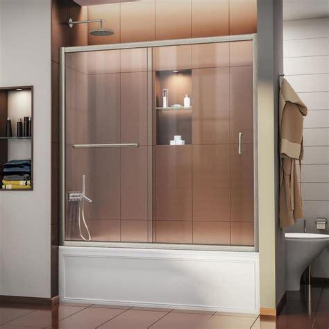 Shop Dreamline Infinity Z 60 In W X 58 In H Frameless Dreamline Infinity Shower Door