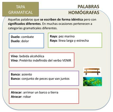 imagenes de palabras homografas espa 241 ol online palabras hom 243 grafas