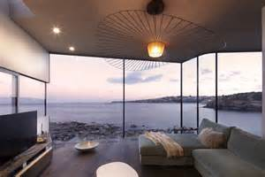 Hanging Foyer Light Ocean View Living Room Designed For Maximum Views