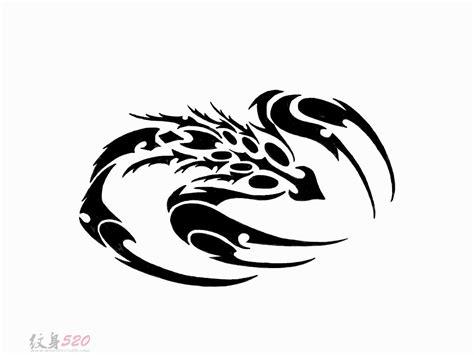 黑色素描创意霸气精致蝎子纹身手稿