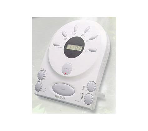homedics sound spa deluxe w lcd alarm clock e72212 qvc