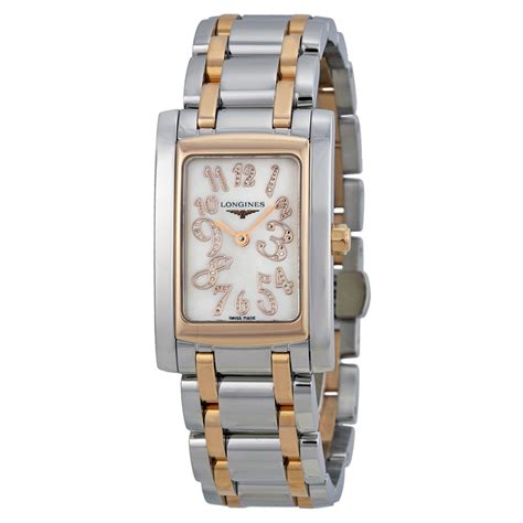 mother of pearl l longines dolcevita mother of pearl dial 18k rose gold