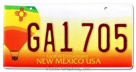 New Mexico Vanity Plates by Independent Studio Services Graphics Products