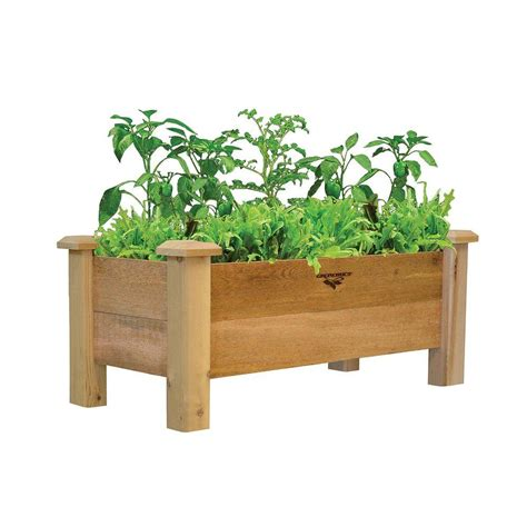 Gronomics 18 In X 34 In X 19 In Rustic Planter Box Rpb Home Depot Planter Box