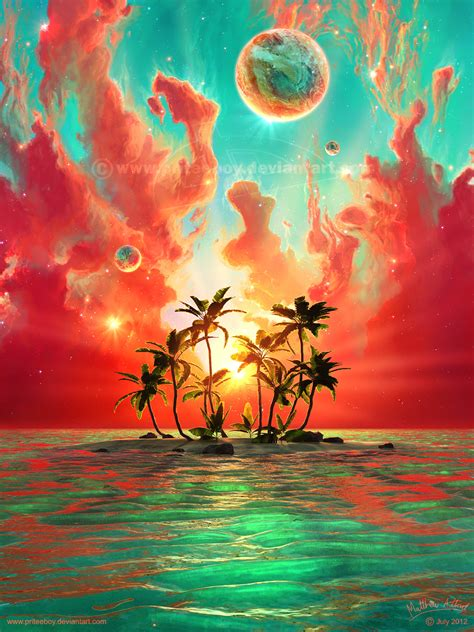 beautiful art pictures summer paradise by priteeboy on deviantart