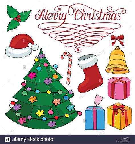arboles de naviadad con santa clous conjunto de elementos de dise 241 o de navidad con 225 rbol de navidad cana santa claus hat