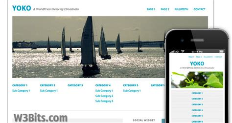 theme wordpress yoko 300 free responsive wordpress themes