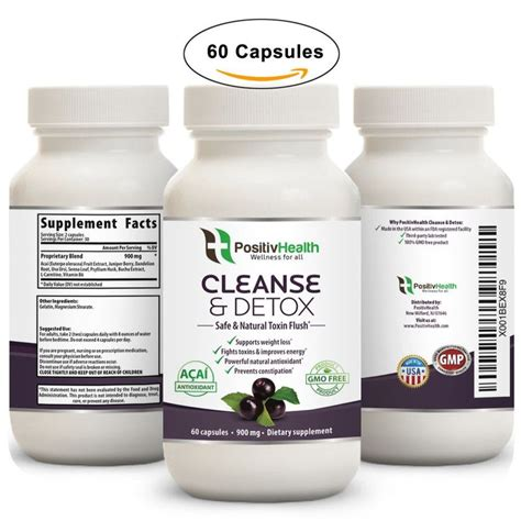 Purify Detox Formula by Cleanse Detox Dietary Supplement 60 Capsules