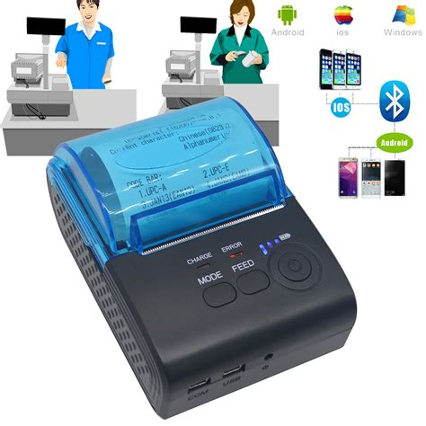 Mini Portable Bluetooth Android Thermal Receipt Printer Sm 80bl mini wireless 58mm portable bluetooth thermal receipt printer for android mobile ebay
