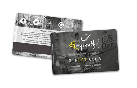 how to make a discount card beyrouths restaurant discount card design exist creative