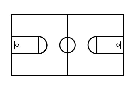 basketball key template basketball court diagram
