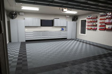 Garage Cabinets Scotia Stylish Modular Floors Tiles And Garage Flooring