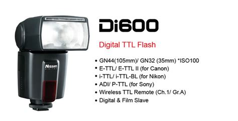 Nissin Di600 For Canonnikon nissin digital flash di600 introduction