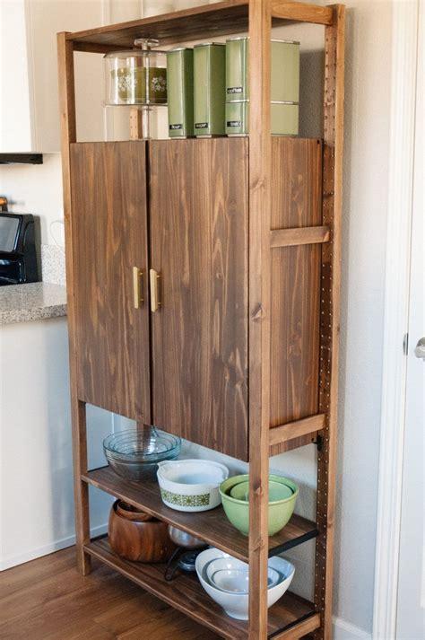 ivar computer cabinet hack   ikea kitchen storage