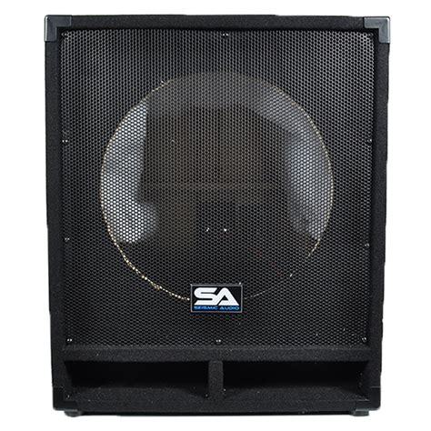 empty plastic speaker cabinets seismic audio pair of empty 15 inch pro audio subwoofer