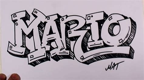 Drawing Names by Graffiti Writing Mario Name Design 38 In 50 Names