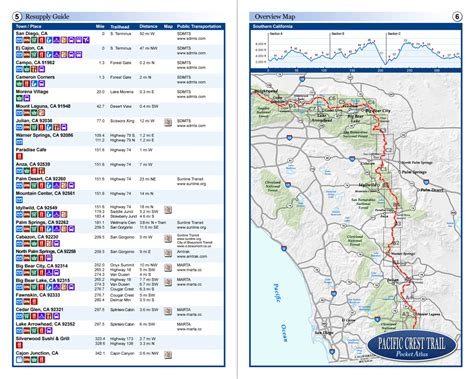 pacific crest trail california sections map of pacific crest trail in southern california