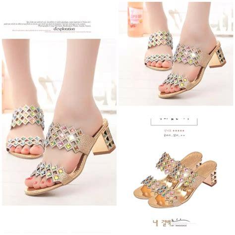 Sendal Sepatu Wanita High Heels Gold 7cm jual shh8801 gold sepatu pesta elegan 6cm grosirimpor