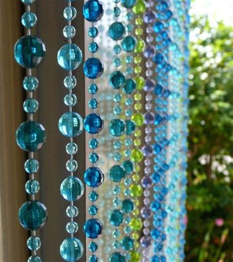 iridescent lime green raindrop beaded curtain that