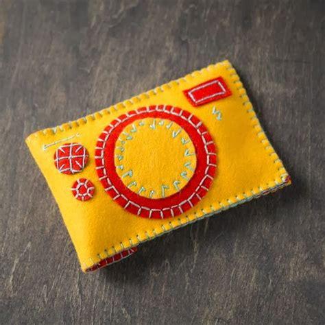 Tas Dompet Unik Bahan Boneka kerajinan tangan dari kain flanel dompet kamera flanel
