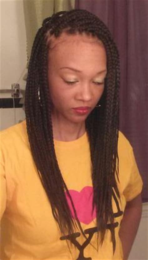 regular box braids medium length box braids hair spirations pinterest