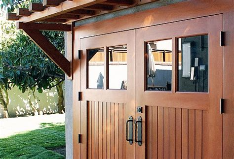 Build A Two Car Garage Real Wood Carriage Garage Door Ideas With Matching
