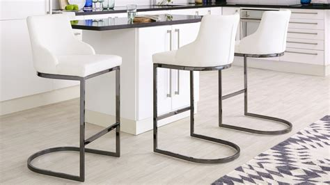 Bar Stool Black Chrome by Black Chrome Bar Stool With Backrest Danetti Uk