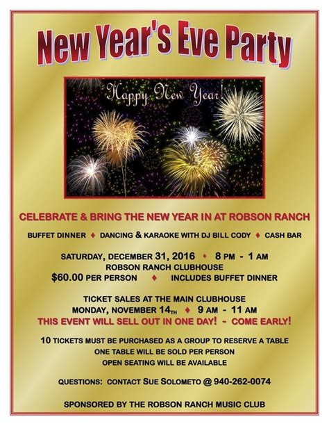 new year dinner flyer new year s karaoke 2016 2017 welcome to the robson